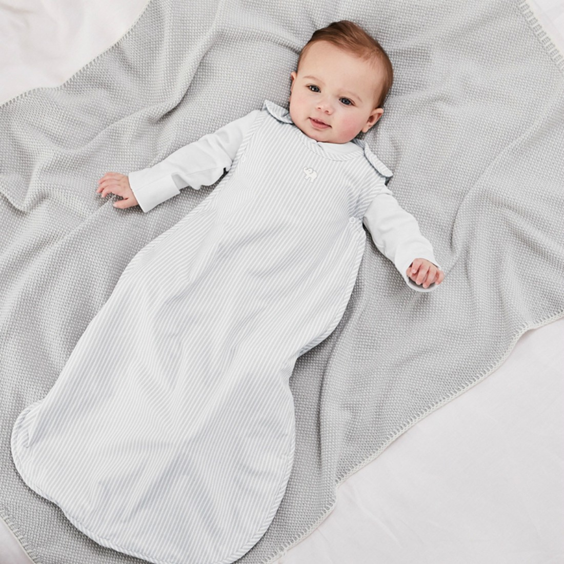 74e30e9f48e One reader will win the Kimbo Seersucker Sleeping Bag 0.5 togs for 0-6  months from The White Company. This gorgeous sleeping bag has an RRP of £28.