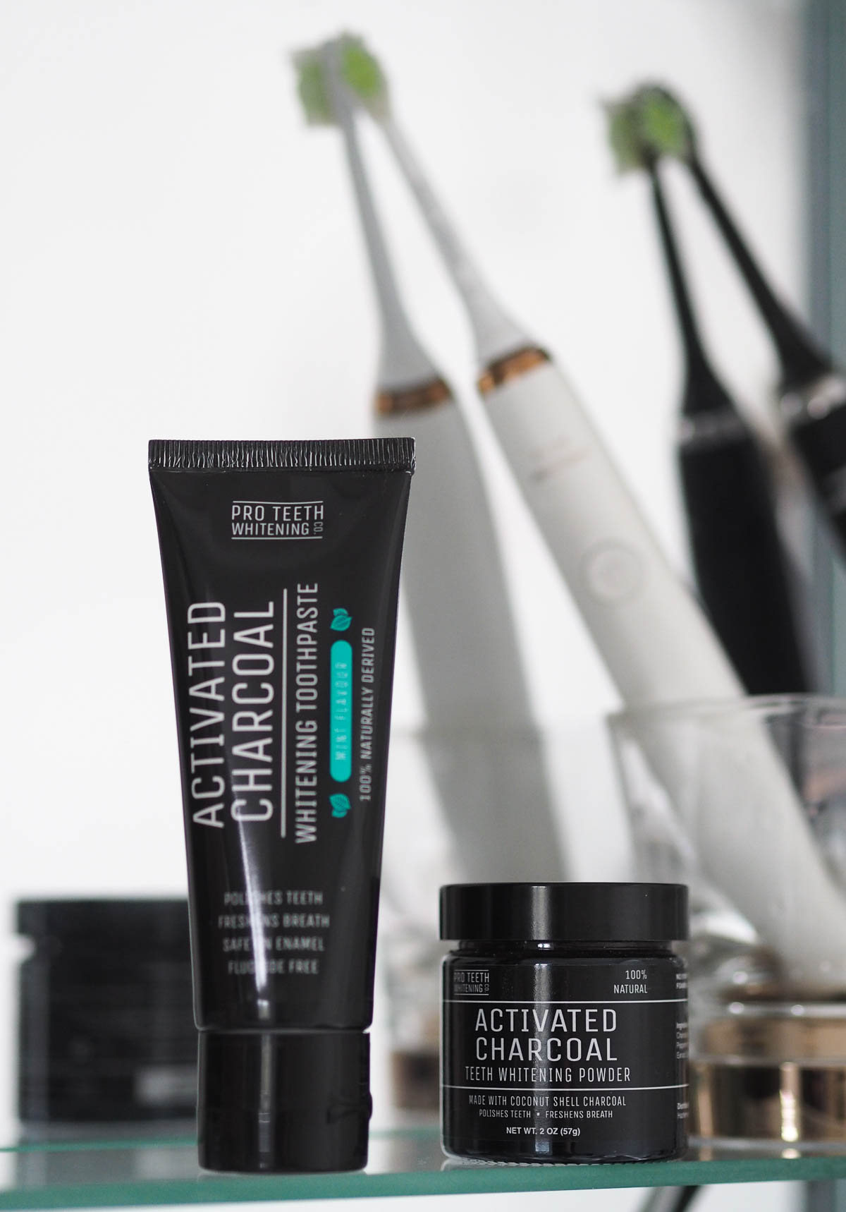Pro Teeth Whitening Co Activated Charcoal Toothpaste Powder